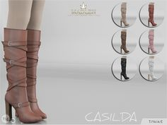 The Sims Resource: Madlen Casilda Boots by MJ95 • Sims 4 Downloads