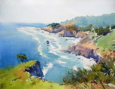 Ocean View at Newport, Oregon: David Taylor artist