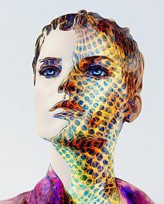 Cyborg 2 #cyborg #woman #face #metallic #holes #surreal #strong #portrait #intensity #icolorama...