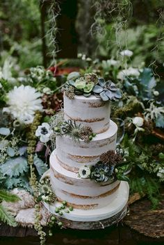 Nice 25+ Pretty and Delicious Enchanted Forest Wedding Cake For Dessert https://oosile.com/25-pretty-and-delicious-enchanted-forest-wedding-cake-for-dessert-19277