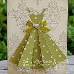 Folded dress..!! Paper art / Scrapbooking..!!♥♡