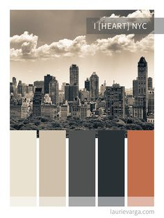 I love NYC color palette. Natural greige tones with a hint of peach and orange. Beach Color Palettes, Rustic Color Palettes, Vintage Colour Palette, Pantone Colour Palettes, Orange Color Palettes, Earthy Color Palette, Pastel Colour Palette, Rustic Colors, Neutral Colour Palette