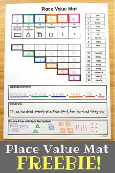 Help students compose and decompose BIG numbers wi Place Value Activities, Math Place Value, Place Value Chart, Math Charts, Math Anchor Charts, Teaching Place Values, Teaching Math, Teaching Strategies, Creative Teaching