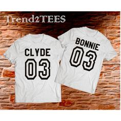 Couple tees Bonnie and Clyde 03 (56 BGN) via Polyvore featuring t-shirts