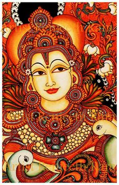 1000 images about mural paintings on pinterest kerala for Buddha mural art