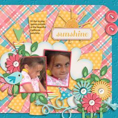 I used Meagan's Creations BLOOM Collection for this layout of my granddaughter!  You can find the elements here:   http://www.thedigichick.com/shop/Bloom-Element-Pack.html and the rest of the collection is in her shop at the digi chick!  I also used the Bloom templates from Meagan's Creations found here:   http://www.thedigichick.com/shop/Bloom-Templates-Vol.-2-by-Meagan-s-Creations.html