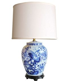Love a blue and white lamp!! Doesn't have to be this one.  Blue & White Porcelain Table Lamp
