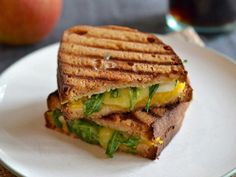 Pumpkin Grilled Cheese with Apples and Cheddar  - CountryLiving.com