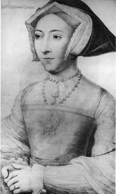 "A sketch of Jane Seymour by Hans Holbein the Younger || The name Seymour comes from the Old English word ""sae,"" which translates into sea, and ""mere,"" meaning lake or pond. In the Anglo-Saxon community, ""Seymour"" originated in the Yorkshire, Norfolk, and Suffolk regions.  The Seymour family that arrived in England with William the Conqueror are directly John Seymour, Jane's father."