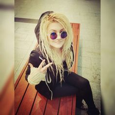 Hippie streat dreadlocks sunglasses hoodie awesome chill chick