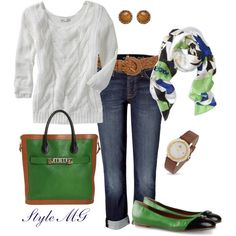 Navy and green, created by romigr99 on Polyvore