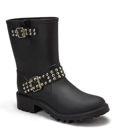 Another great find on #zulily! Capelli New York Black Studded Rain Boot by Capelli New York #zulilyfinds