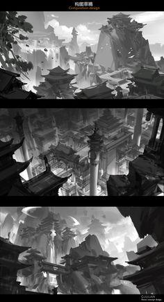 ArtStation - Composition design, G liulian