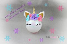 Unicorn Headbands dominated the summer, Unicorn Headband themed pumpkins have been inescapable this fall, and now the trend is here to stay for Christmas this winter as Unicorn Christmas Ornaments. Unicorn Christmas Ornament, Unicorn Ornaments, Christmas Ornament Crafts, Diy Christmas Ornaments, Christmas Projects, Holiday Crafts, Handmade Christmas Decorations, Christmas Tree Themes, Christmas Time