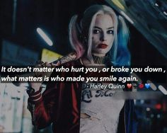 True Words, Harly Quinn Quotes, Movies Quotes, Plus Belle Citation, Joker Quotes, Joker And Harley Quinn, Badass Quotes, Wicked Quotes, Queen Quotes