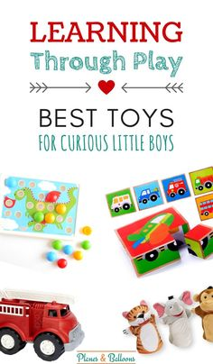 Toddler toys for boys 2 year olds will love! I can't wait to try some of these with my twins.