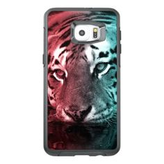 Pink & Teal Tiger in the Water OtterBox Samsung Galaxy S6 Edge Plus Case -nature diy customize sprecial design