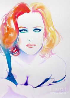 http://images.fineartamerica.com/images/artworkimages/mediumlarge/1/gillian-anderson-1990s-kimberly-godfrey.jpg