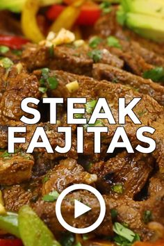 Steak Fajitas by oh sweet basil. This juicy tasty recipe is calling for you. Pin made by GetSnackable.com #Beef #Mexican Chicken Fajita Rezept, Beef Fajita Recipe, Homemade Fajita Seasoning, Recipes With Beef Sirloin, Recipes For Round Steak, Beef Chunks Recipes, Chopped Steak Recipes, Chuck Steak Recipes, Skirt Steak Recipes