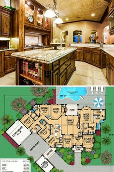 Two Story House Plans, Ranch House Plans, Small House Plans, House Floor Plans, Diy Interior Furniture, Kitchen Interior, Luxury Homes Interior, Interior Design, Floor Layout