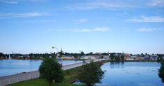 Skyline. Kristinestad (fi: Kristiinankaupunki) is an idyllic town in western Finland, next to the sea. (Photo: Kajsa Snickars)