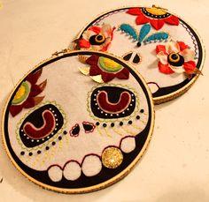 embroidery del dia de los muertos