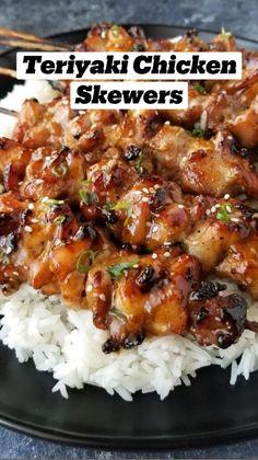 Teriyaki Chicken Skewers, Teriyaki Sauce, Best Teriyaki Chicken Recipe, Chicken Kabob Marinade, Chicken Marinate, Korean Bbq Chicken, Teriyaki Salmon, Cashew Chicken, Eating Clean