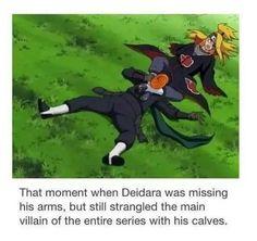 Haha Deidara is a real Badass ❤️❤️❤️