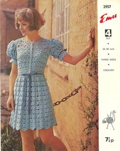 2957E ladies dress  crochet summer wear  for by EnglishCrochet