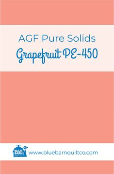 $18 CAD per yard AGF Pure Solids Grapefruit PE-450. Premium PIMA Cotton 44″ wide, The purest hues meet Art Gallery Fabrics' soft hand and superior quality. All the solids you have been looking for to match your collections are here! Sold by the 1/4 yard or in Fat Quarters, ships to Canada and USA.   #agfsolids #agfpuresolids #longarmquilting  #bluebarnquiltco #ilovequilting #quiltersdream #quiltersofinstagram #yegquilter  #colorful #forsale Met Art Galleries, Art Gallery Fabrics, Longarm Quilting, Superior Quality, Fat Quarters, Grapefruit, Quilt Patterns, Ships, Canada
