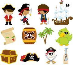 Aplique recortado tema Pirata Ideal para decorações de aniversário e festa, Faça você mesma, forminhas, latinhas, tubetes ... Papel fotográfico a prova d´água 180 g, não adesivo. Tamanho médio: 3,5 cm. Tamanho 5 cm : 0,48 Tamanho 7 cm : 0,68 Tamanho 12 cm : 1,48 Personalização ( No...