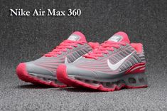 huge selection of c9dd0 06e72 Nike Air Max 360 KPU Pink Grey Women s Running Shoes  SIM000067