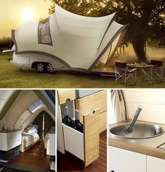Just look at that sace inside! I'm more a 'tenter' than caravans but this is pretty cool!