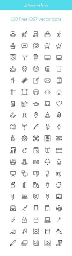 Streamline is the ultimate stroke icon collection for design enthusiasts. All of the icons are provided as vector. Web Design, Tool Design, Map Icons, Vector Icons, Planer Layout, Ios Icon, Doodle Icon, Doodles, Sketch Notes