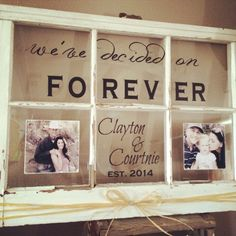 Old Window Wall Hanging Custom Family Name Established Sign Window with Photos Wedding Gift Rustic Window Shabby Chic Window Shabby Chic Rustique, Rustikalen Shabby Chic, Shabby Chic Zimmer, Shabby Chic Living Room, Shabby Chic Bedrooms, Shabby Chic Kitchen, Shabby Chic Homes, Shabby Chic Furniture, Rustic Chic