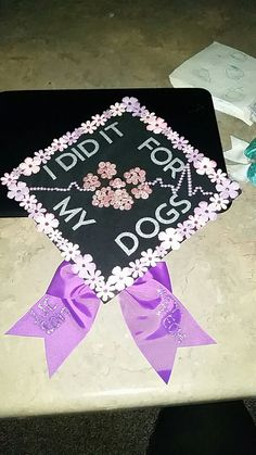 This years vet tech grad cap! So happy how this turned out