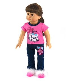 American Fashion World Lazy Summer Dayz Pajama Outfit for 18 Doll | zulily