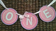 Baby girl birthday 1st birthday bunting ONE banner party highchair banner #bunting photoshoot