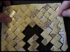 Base para elaborar los distintos trabajos paso a paso Diy Paper, Paper Art, Paper Crafts, Willow Weaving, Basket Weaving, Recycled Crafts, Diy And Crafts, Origami And Quilling, Paper Weaving