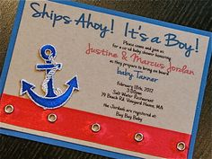 Nautical Baby Boy Shower by peachykeenevents on Etsy Baby Shower Fun, Baby Shower Gender Reveal, Baby Shower Parties, Baby Shower Themes, Shower Ideas, Having A Baby Boy, Nautical Baby, Nautical Theme, Baby Shower Invitations For Boys