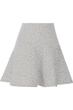 TIBI Rime leopard-jacquard mini skirt