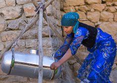 Woman Making Cheese, Palangan, Iran