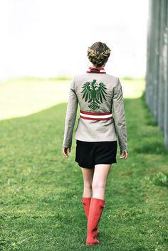 """Jacke Leinen """"Safari"""" - Mirabell Plummer Safari, Punk, Style, Fashion, Mandarin Collar, Linen Fabric, Scale Model, Jackets, Woman"""