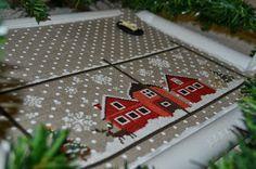 Новогоднее окно, ткани и новый мишка