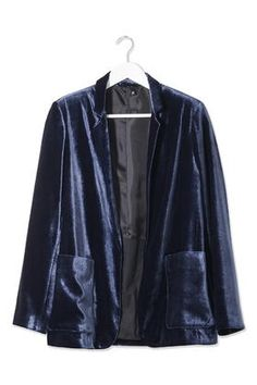 Relaxed Velvet Blazer by Boutique - Topshop
