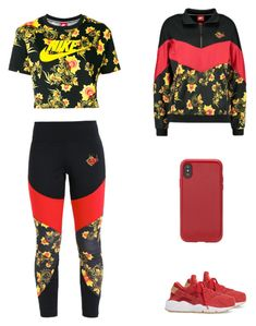 """Red workout"" by emilyzinz on Polyvore featuring NIKE and Sonix"