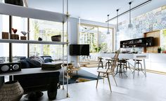 Contemporary Living Room on Behance