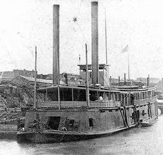 Steamboat Conversions of the Civil War USS Cricket, tinclad fleet flagship