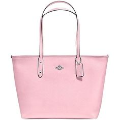 Pre-owned Coach City Zip In Crossgrain Leather F36875 Petal Pink Tote... ($186) ❤ liked on Polyvore featuring bags, handbags, tote bags, petal pink, coach purses, zippered tote bag, coach tote bags, handbags totes and leather handbags