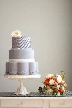 Elegant Grey Wedding Cake / via Beautiful Cake Pictures
